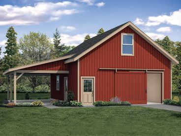Garage or Outbuilding Plan, 051G-0116