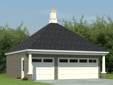 3-Car Garage Plan, 006G-0055