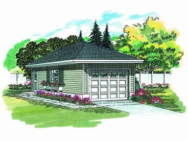 1 Car Garage Plan, 033G-0001