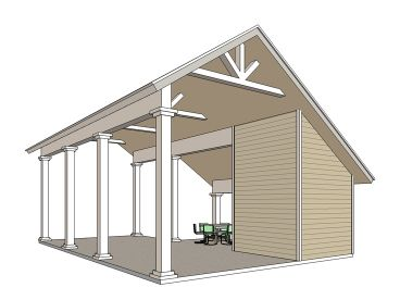 RV Carport Plan, 006G-0163
