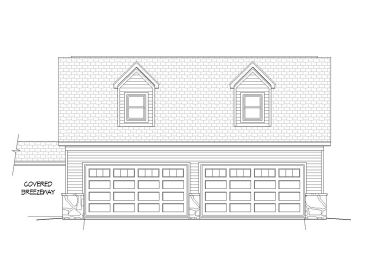 4-Car Garage with Loft, 062G-0011