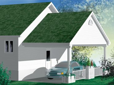 Carport Plan, Rear, 072G-0025