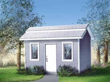 Storage Shed Plan, 072S-0011