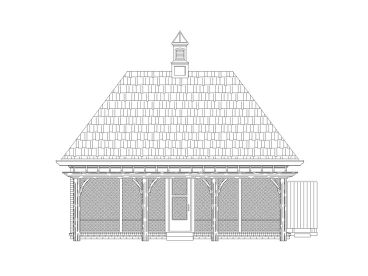 Pool House with Screened Porch, 006P-0012