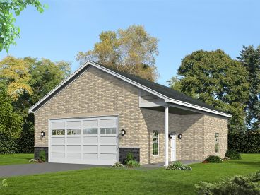 Four-Car Garage Plan, 062G-0179