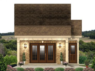 Garage Plan with Flex Space, 006G-0153