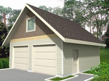 2-Car Garage Plan, 012G-0041