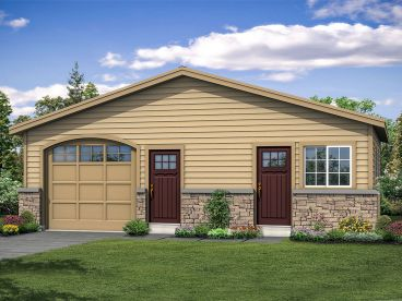 Garage Plan with Workshop, 051G-0110