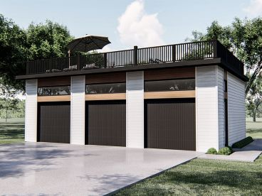 Unique 3-Car Garage Plan, 050G-0113