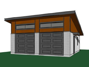 Two-Car Garage Plan, 028G-0061