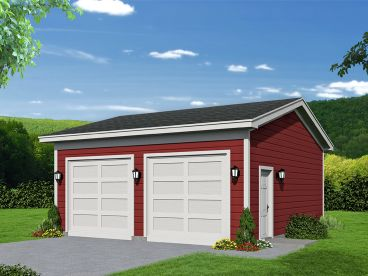 Drive-Thru Garage Plan, 062G-0106