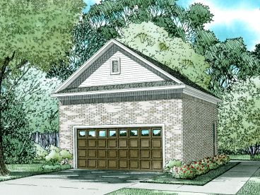 Two-Car Garage Plan, 025G-0011