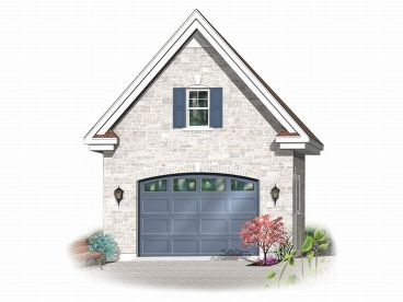 1 Car Garage Plan, 028G-0008