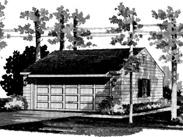 Two-Car Garage Plan, 057G-0002