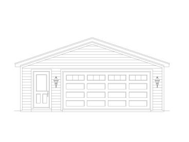 2-Car Garage Plan, 006G-0129