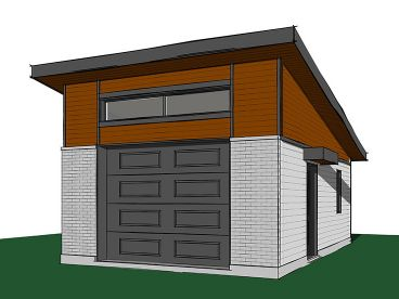One-Car Garage Plan, 028G-0058