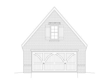 Two-Car Garage Plan, 062G-0032