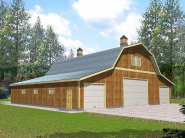 Barn Garage Plan Pole Floor Plans