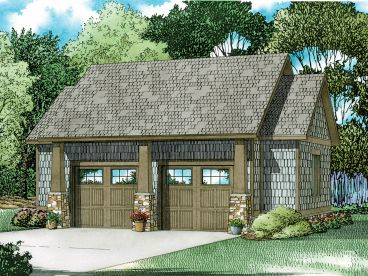 Two-Car Garage Plan, 025G-0005