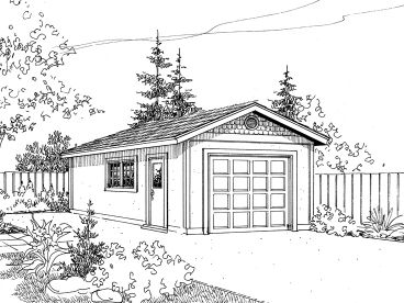1-Car Garage Plan, 051G-0004
