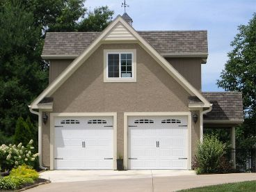 Garage Plan with Flex Space, 009G-0010