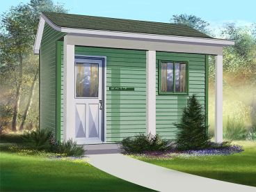 Multi-Size Garden Shed Plan, 072S-0008