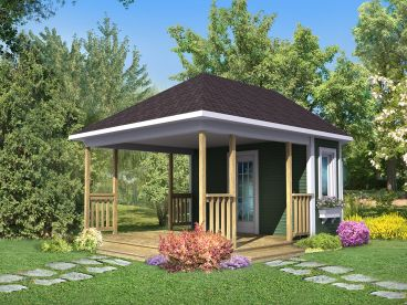 Backyard Shed Plan, 072S-0002