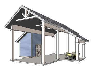 RV Carport Plan, 006G-0161