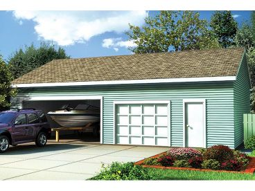 Garage with Boat Storage, 047G-0017