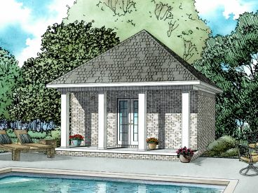 Pool house garage combo plans house plans for Pool house plans with garage