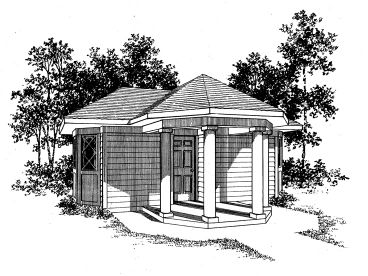 Pool House Plan, 057X-0003