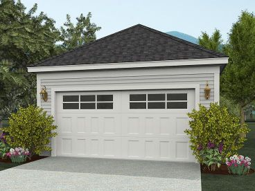 Detached Garage Plan, 062G-0010