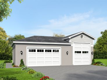 RV Garage Plan, 062G-0089