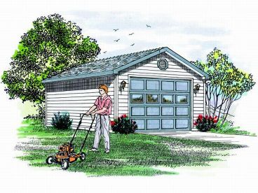 1-Car Garage Plan, 033G-0005
