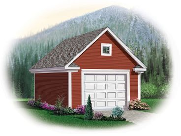 1-Car Garage Loft Plan, 028G-0032