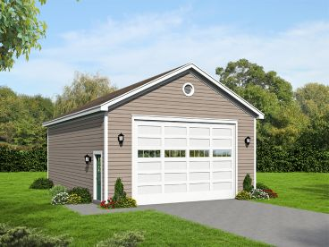 Garage Plan with Storage, 062G-0093