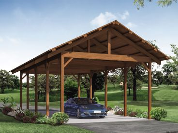 4-Car Carport Plan, 051G-0120