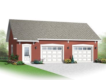 Two-Car Garage Plan, 028G-0051