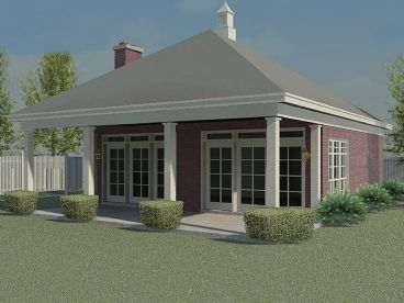 Pool House Plan, 006P-0030