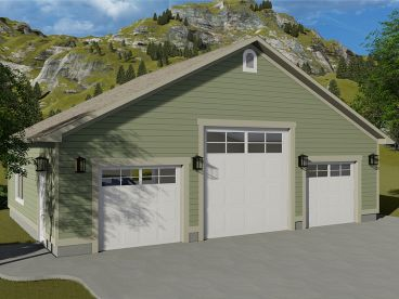 RV Garage Plan, 065G-0005