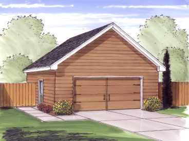 Two Car Garage Plan, 050G-0059