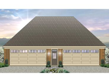 4-Car Garage Plan, 006G-0114