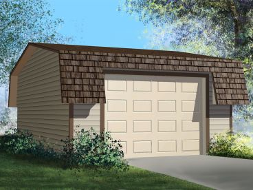 Detached Garage Plan, 072G-0001