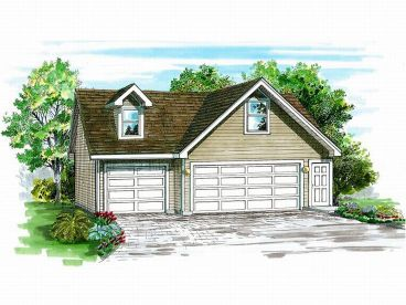 3-Car Garage Loft Plan, 033G-0024