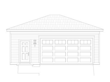 Garage Plan with Storage, 062G-0021
