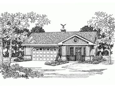Garage Apartment Plan, 032G-0012