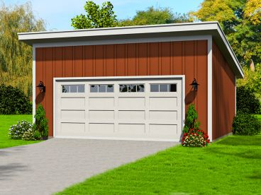 Modern Two-Car Garage Plan, 062G-0055