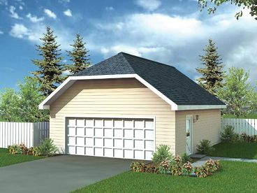 2 Car Garage Plan, 047G-0003
