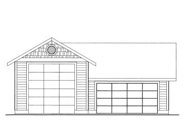 RV Garage Plan, 012G-0057