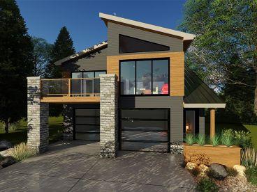 Garage Apartment Plans Modern Carriage House Plan 050g